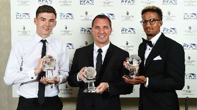 Kieran Tierney, Brendan Rodgers and Scott Sinclair struck silver at the awards.