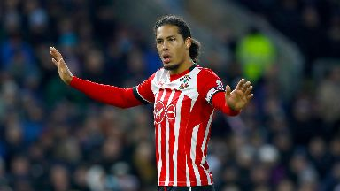 Virgil van Dijk: Defender in action for Southampton.