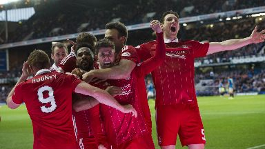Decisive: Ryan Christie doubled Aberdeen's lead