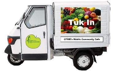 Tuk In will provide hot meals and advice in regeneration areas.