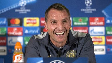 Success: Rodgers took Celtic to the group stages.