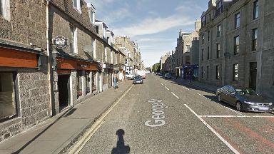 The alleged attack took place in George Street, Aberdeen.