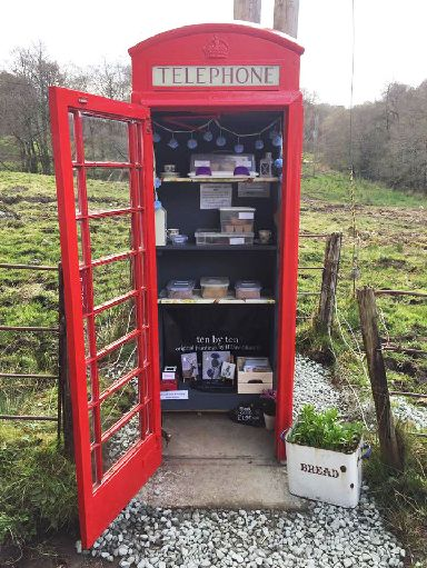 Scotland's smallest cake shop also doubles up as gallery.