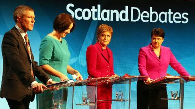 Leaders: During previous debate for 2016 Holyrood election.
