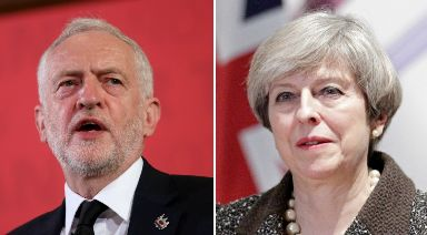 Ratings: Voters were asked how they rated Corbyn and May.