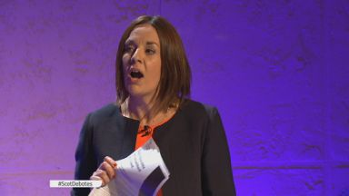 Kezia Dugdale: Clashed with Sturgeon over 'private conversation'.