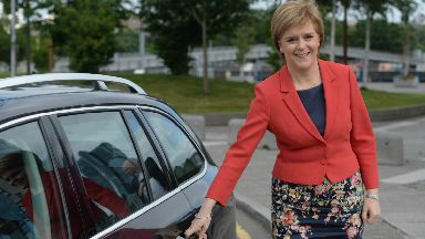United States: Nicola Sturgeon and her aides hired the vehicle in California in April (file pic).