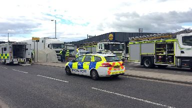 Wellington Road: Emergency services closed street.