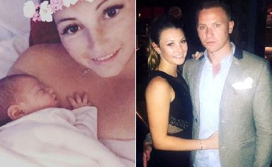 Newborn: April Oliver announced pregnancy in January.