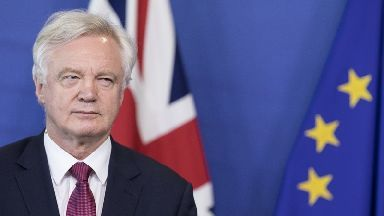 David Davis: First day of Brexit talks .