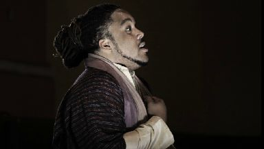 Opera star: Keanon Kyles mopped floors until his talent was discovered.
