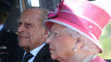 Final duties: Duke of Edinburgh and Queen at the Kelpies.