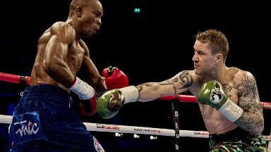 Fight night: Ricky Burns suffered defeat in his light welterweight unification title fight with Julius Indongo.