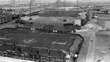 Hampden Park: Just under 150,000 fans squeezed in to the famous stadium in 1937.