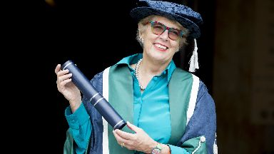 Chancellor: Prue Leith received honour at university.