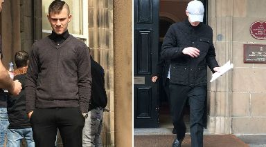 Guilty: McIsaac (l) and Innes will be sentenced later.