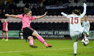 Key role: Joanne Love, the country's most capped outfield player, is the driving force at the heart of the Scotland midfield.