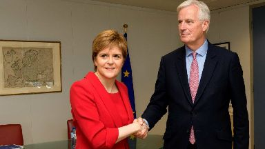 Brexit: Michel Barnier previously met Nicola Sturgeon to discuss the talks.