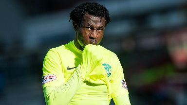 Efe Ambrose: The defender has returned to Hibs training.