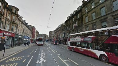 Shandwick Place: Woman was taken to hospital after crash (file pic).