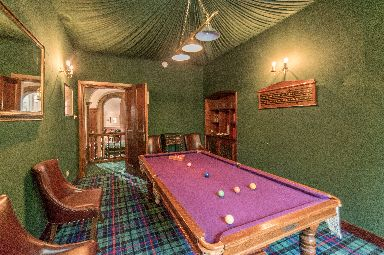 Games room comes complete with snooker table.