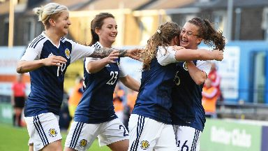 History makers: Scotland's women qualify for their first major competition.