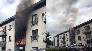 Edinburgh: Firefighters are tackling the blaze on East Pilton Farm Place.