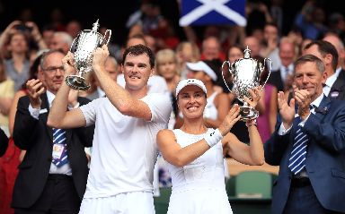 Wimbledon: Jamie Murray and Martina Hingis have won mixed doubles.