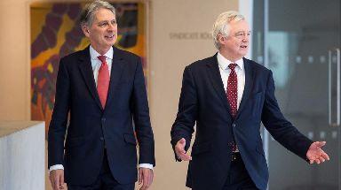 Chancellor Philip Hammond with Brexit Secretary David Davis.