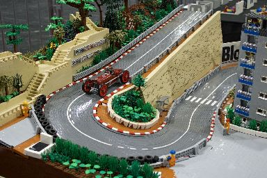 A scene depicting Monaco's famous hairpin bend.