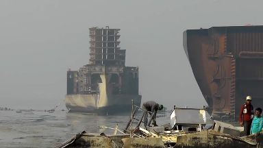 Generic/stock image of ships at shipbreaking yard in South Asia
