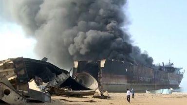 Gadani: Fatal blaze claimed 28 lives.