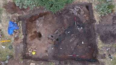 Remains: New discovery at Burghead Fort.