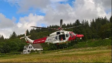 Coastguard: A helicopter was used to rescue the man (file pic).