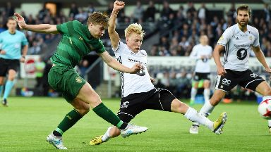 James Forrest scored the winner for Celtic in their last fixture with Rosenborg.