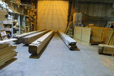 Eight yellow pine timber beams travelled 3000 miles for the project.