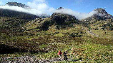 Glen Coe: Popular walking and climbing destination.