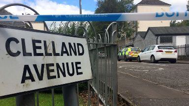 Clelland Avenue: A section of the street remains cordoned off.