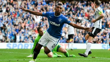 Alfredo Morelos: The Colombian forward scored his first goal for Rangers.