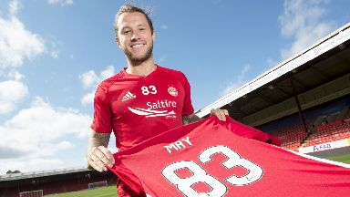 Deal: May joined Aberdeen on Thursday.