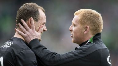 Anthony Stokes and Neil Lennon have teamed up again at Hibs.