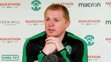 Neil Lennon: The Hibs boss expects a fired-up home support on Saturday.