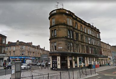 Hit: The woman was knocked over on Kilmarnock Road.