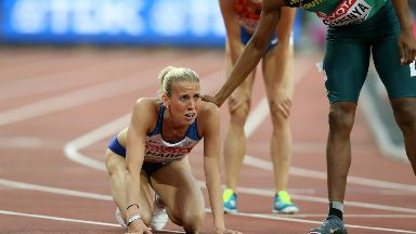 Disqualified: The 27-year-old was kicked out for pushing.