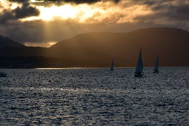 A stunning backdrop for members of Gourock's yacht club.