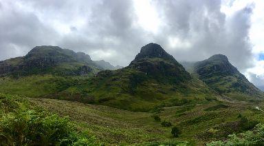 The Three Sisters comprise of the ridges of Beinn Fhada, Gearr Aonach and Aonach Dubh.