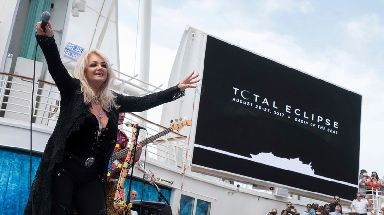 Bonnie Tyler sang her hit Total Eclipse of the Heart during the total solar eclipse.
