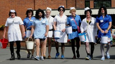 Locals raised £2,500 for Ludlow Hospital but the cash was refused