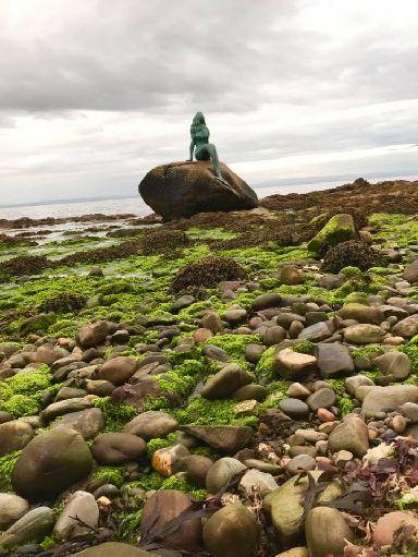 Mermaid on the rocks.