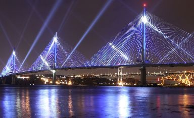 Queensferry Crossing: 1.7 mile structure opened in August.